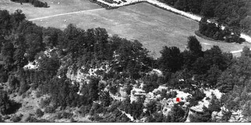 This is a broader view of the Richie Ledges area from 1936 that Steve Galehouse had sent to me.  It is the source of the insert in the dual image above.