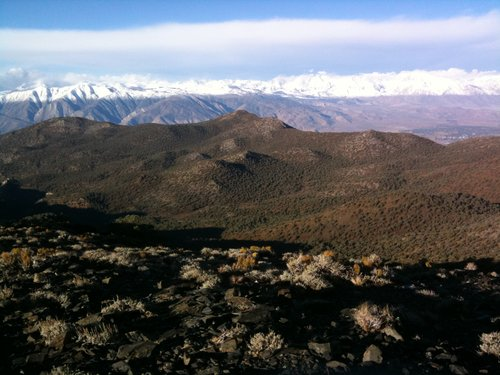 From 9,000' in White Mountains looking across Bishop at 4K to Sierra Nevadas at 13K